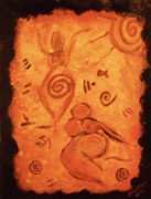 Cave Paintings - Cave Goddess by Shelley Bain