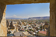High Vantage Point Posters - Cave window view of Goreme Poster by Kantilal Patel