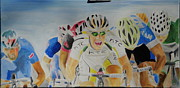 Bicycling Paintings - Cavendish wins by James Lopez