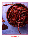Taliaferro Posters - Cayenne Peppers Poster by Jerry Taliaferro