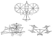 Pioneer History Prints - Cayleys Aerial Carriage, 1843 Print by Sheila Terry