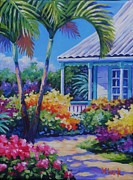 Clarke Paintings - Cayman Yard by John Clark