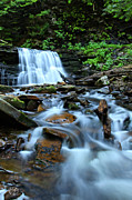 Pennsylvania Photographs Photos - Cayuga Falls by Brad Hoyt