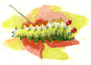 Insects Pastels - Cecropia Moth Chrysalis  by Janice Lawrence