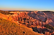 Chessmen Acrylic Prints - Cedar Breaks Sunset Acrylic Print by Mark Bowmer