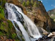 Lost River Mountains Photos - Cedar Creek Falls by Leland Howard