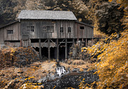 Kinkade Style Photo Posters - Cedar Creek Grist Mill Poster by Steve McKinzie