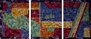 Textile Collage Posters - Cedar Grove Arial Map Poster by Sally Van Driest