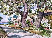 Florida Paintings - Cedar Key Survivors by Tony Van Hasselt