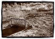 Old West Photo Originals - Cedar Pete Gravesite In Grafton Utah by Steve Gadomski