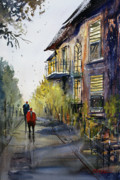 Figures Painting Metal Prints - Cedarburg Shadows Metal Print by Ryan Radke