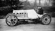 Race Drivers Photos - Cedrino in the Fiat Cyclone 1900s by Padre Art