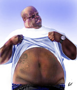African American Male Paintings - Cee Lo Green-The Day I Lost My Mind by Reggie Duffie