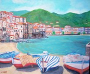 Sicily Paintings - Cefalu in Sicily by Teresa Dominici
