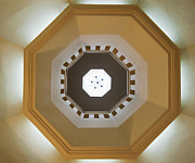 Patterned Posters - Ceiling Of An Octagonal Dome Poster by Noam Armonn