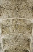 Ceiling Fan Posters - Ceiling Of Kings College Chapel Poster by Axiom Photographic