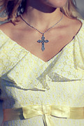 Silver Necklace Art - Celctic Cross by Joana Kruse
