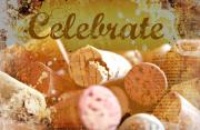Party Wine Prints - Celebrate Print by Cathie Tyler