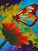 Gerbera Paintings - Celebrate by Karen Dukes