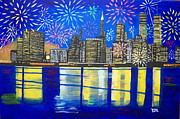 Outsider Art Paintings - Celebrate New York Your Spirit Will Never Die by Eamon Reilly