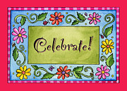 Corwin Paintings - Celebrate by Pamela  Corwin