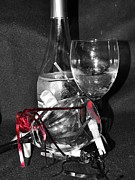 Champagne Glasses Photos - Celebrate Selectively by Lynda Dawson-Youngclaus