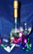 Champagne Glasses Photos - Celebrate Softly by Lynda Dawson-Youngclaus