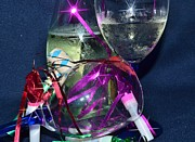 Champagne Glasses Photos - Celebrate Starry by Lynda Dawson-Youngclaus