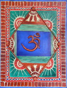 Colored Background Mixed Media - Celebrating OM by Sandhya Manne
