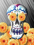Spirits Digital Art - Celebrating the Day of the Dead by Waylan Loyd