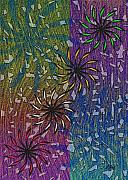 Fireworks Painting Metal Prints - Celebration Metal Print by Gordon Beck
