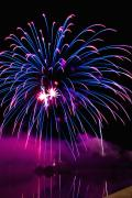 Purple Fireworks Prints - Celebration III Print by Greg Fortier