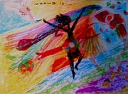 Watercolors Pastels Originals - Celebration of Life.. Be..2 by Rooma Mehra