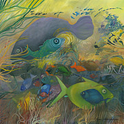 Tropical Fish Paintings - Celebration Of Life by Seewall Child