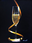 Champagne Painting Prints - Celebrations Print by Kayleigh Semeniuk