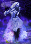 Violinist Digital Art - Celestial Music by Keith Double