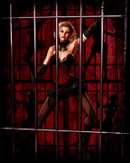Noir Digital Art - Cell Block Tango by Lizzie Prusaczyk