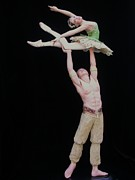 Ballet Dancers Sculptures - Celle Qui Vole  or She Who Flies by Vickie Arentz
