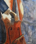 Limited Edition Paintings - Cello by Guri Stark