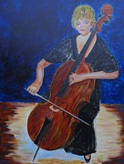Player Originals - Cello Player by Carolyn Speer