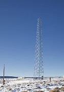 Cellular Metal Prints - Cellphone Tower Metal Print by David Buffington