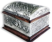 Viking Reliefs Posters - Celtic Chest 1 Poster by Rodrigo Santos