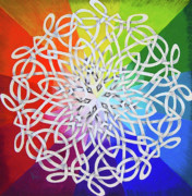 Interlaced Posters - Celtic Color Interlaced 1 Poster by Carolyn Coffey Wallace