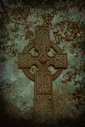 Celts Prints - Celtic Cross 2 Print by Bernice Williams