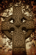 Celts Posters - Celtic Cross 3 Poster by Bernice Williams