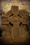Celts Photo Posters - Celtic Cross 4 Poster by Bernice Williams