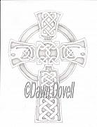 Celtic Cross Drawings - Celtic Cross by Dawn Dovell