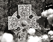 Irish Posters - Celtic Cross I Poster by Tom Mc Nemar
