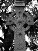 Savannah Posters - Celtic Cross in Emmet Park Poster by Carol Groenen