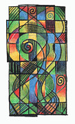 Celtic Cross Drawings - Celtic Cruciform  by Andy  Mercer